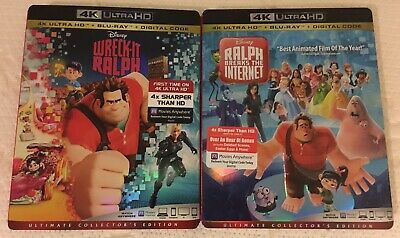 Wreck-It Ralph & Ralph Breaks The Internet (4k Ultra HD/Blu-ray) w/ Slipcover