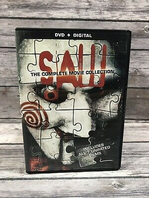 Saw: The Complete Movie Collection (DVD, 2014, 4-Disc Set *No Digital) 7 Films
