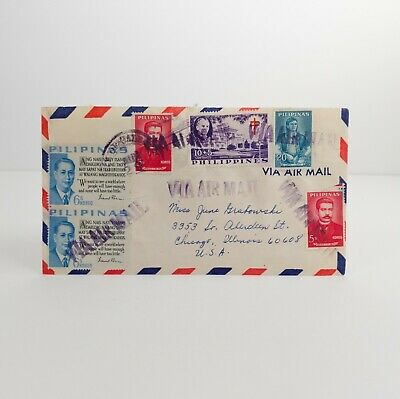 Vintage Letter 1964 Acedillo Calbayog City PHILIPPINES AIR MAIL COVER to USA