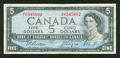 1954 Bank of Canada $5 Five  Dollars BEATTIE COYNE prefix  M/C