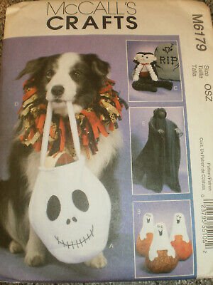 Hallowe'en  Treat Bag   Ghost Pumpkin   Vampire Greeter   Pet Collar   Pattern