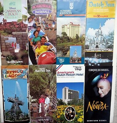 early Walt Disney World Hotels and Attractions Brochures (Lot of 8)