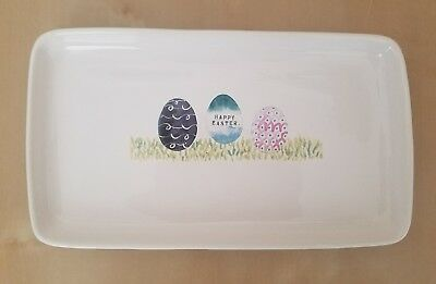 NEW Rae Dunn by Magenta HAPPY EASTER Trinket Plate Tray Dish Platter Home Decor