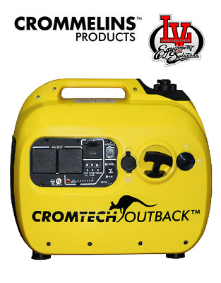 CROMTECH OUTBACK 2.4kVA PORTABLE INVERTER GENERATOR- 2400W MAX - 2100W - CROM...