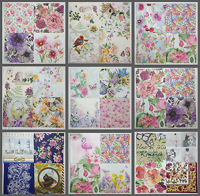 Set of 4 Paper Napkins for Decoupage Craft Collage Art Scrapbook Party Wedding B