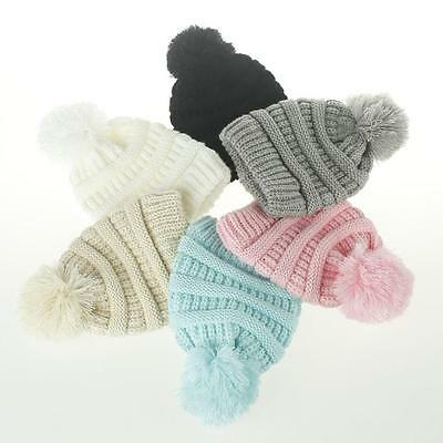 Toddler Kids Girl&Boy Baby Infant Winter Warm Crochet Knit Hat Beanie Cap AU