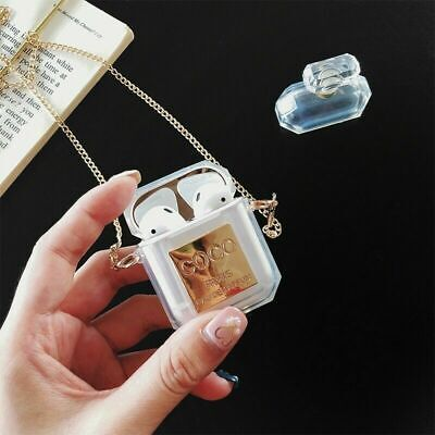 Perfume Luxury Bottle Silicone Case For Apple Airpods Earphone Protective Cover