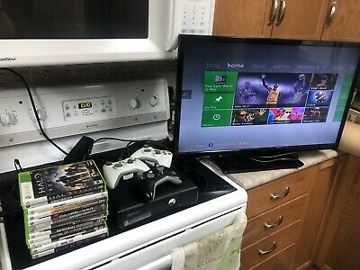 250gb Black Xbox 360 Bundle! Includes Headset, 15 Games, 2+ Controllers