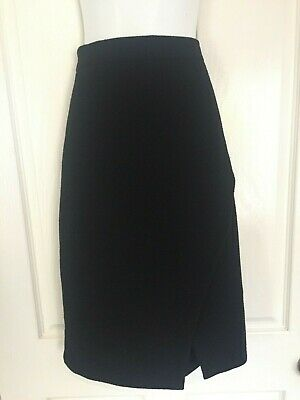 City Chic Black Textured Stretch Winter Skirt - Size XS (14-16) NEVER WORN!