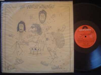 THE WHO lp BY NUMBERS uruguay ID# 38317 1978 POLYDOR 2480309 THE WHO EX NM autom
