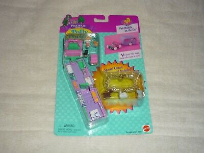 Htf 1996 Bluebird Polly Pocket Pet Mobile On The Go W/Bonus Charm Bracelet New