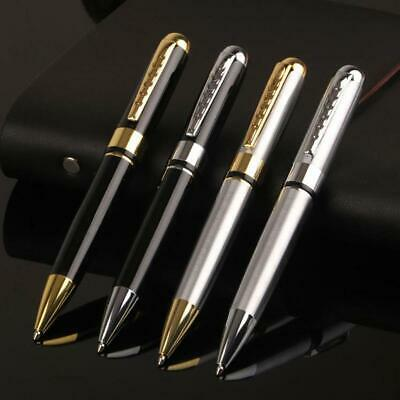 Metal stainless steel ballpoint pen office Rotating metal roller stationery