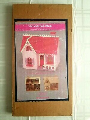 Vintage The Victoria Cottage Wood Doll House Kit, USA, Beachwood Ltd