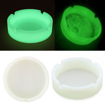 Creative Glow In The Dark Luminous Silicone Circle Ashtray For Smoking Cigarette