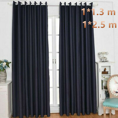 THERMAL BLACKOUT CURTAINS Eyelet Ring Top Office  Home Bedroom Girls and Boys