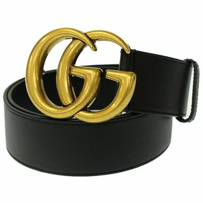 d0115773 NWT GUCCI GG Marmont Double G Brown Leather Belt Size 65 70 75 80 ...