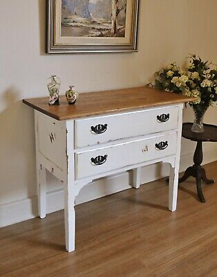 Vintage French Style Tasmanian Oak Hall Console Sofa Side Table Chest of Drawers