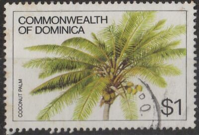 g1013) Dominica. 1981. Used. SG 778$1 Coconut Palm. Plants