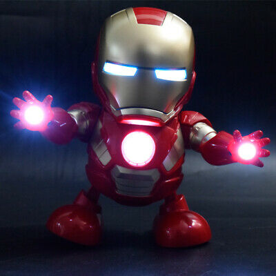 Marvel Avengers 4 Dancing Hero Iron Man With Music Lights Robots Kids Toys Gift
