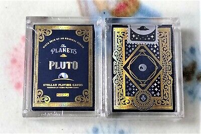1 deck The Planets Pluto Mini Playing Cards Foil in Acrylic Case-S1030495592-USA
