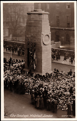 Real Photo Postcard of The Cenotaph, Whitehall, London UK B87