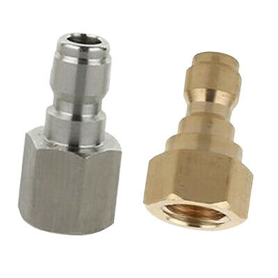 2x Pressure Washer Quick Connect Adapter Connector Coupling Heavy Duty D+B