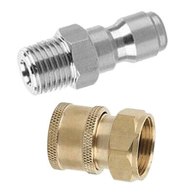 2x Pressure Washer Quick Connect Adapter Connector Coupling Heavy Duty A+E