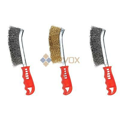 Stainless Steel Brass Plated Wire Scratch Brushes Rust Removal Metal Prep