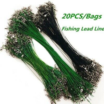 20Pcs Bags Anti-bite Fly Leash Fishing Lead Line Rope Wire Swivel Stainless Stee