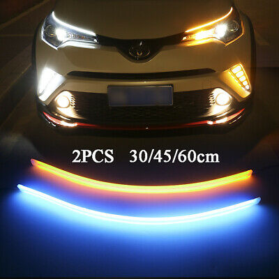 2x Car LED Strip Light Sequential Switchback Signal DRL Dynamic Indicator Lamp