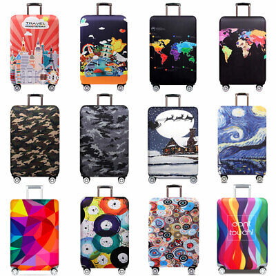 Printed Suitcase Cover Protective Elastic Travel Luggage Protector 18 -32 inch