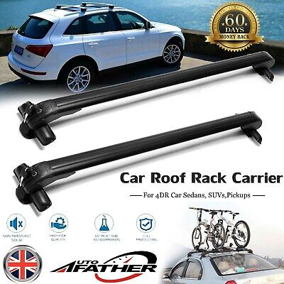 2x Car Roof Rack Aluminum Bars Luggage Carrier with Lock For Honda Civic 2005-18