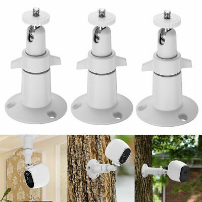 3pcs Security Camera Wall Mount Stand Adjustable In&Outdoor for Arlo Pro Cameras