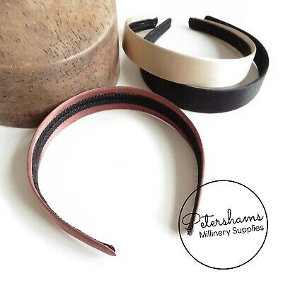 24mm Satin Covered Plastic Headbands for Fascinators & Millinery