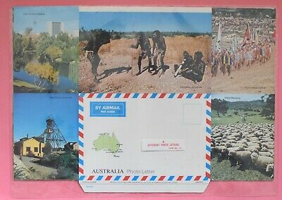 1974 COLES Australia Postcard Style Photo Letter CRAFTPRINT - 6 photo letters