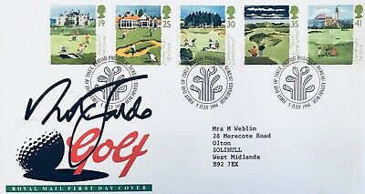 Nick Faldo HAND SIGNED Golf First Day Cover FDC *In Person* COA Ryder Cup