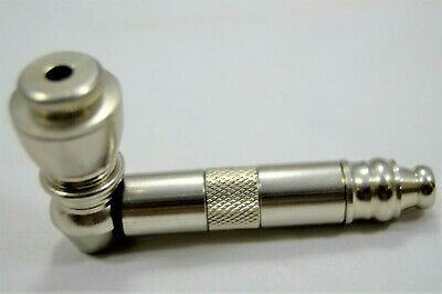 """1 Small Collectible Metal Tobacco Herb Smoking Pipes 3""""  5 Free Screens"""