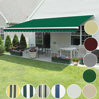 Outdoor Retractable Graden Awning Manual Aluminium Canopy Patio SunShade Shelter