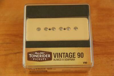 TONERIDER VINTAGE P90 SOAPBAR PU BRIDGE CREAM ALNICO II 8.5 k SCATTERWOUND TOP!