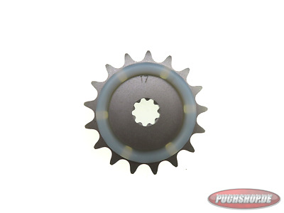 Ritzel 17 Zähne mit Gummiauflage Puch Maxi MV VS Mofa Moped Sprocket 17 tooth