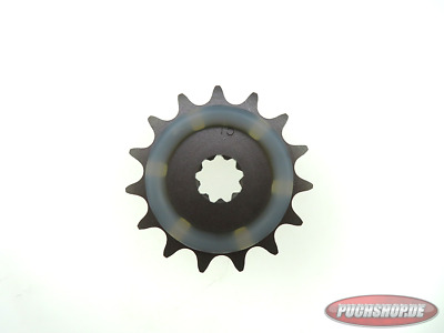 Ritzel 15 Zähne mit Gummiauflage Puch Maxi MV VS Mofa Moped Sprocket 15 tooth