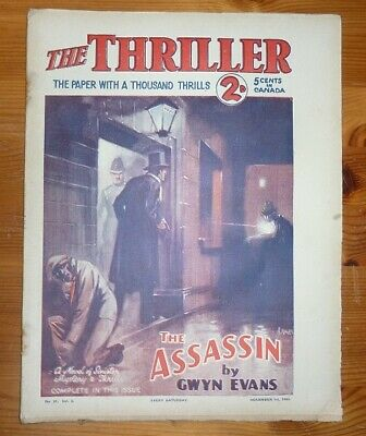 THE THRILLER No 91 Vol 3 1ST NOV 1930 THE ASSASSIN BY GWYN EVANS