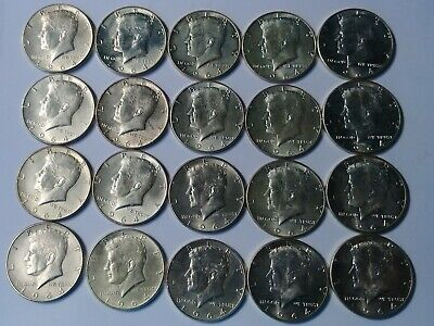FULL DATES Roll Of 20 $10 Face Value 90% Silver Uncirculated 1964 Kennedy Halves