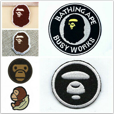 Iron-on/Sew-on Embroidered Patch pat0843 Aape Ape Bape Chocoolate Logo
