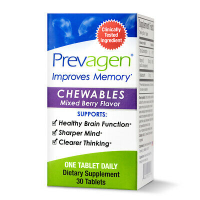 Prevagen, Regular Strength, Chewables, Mixed Berry, 30 Tablets
