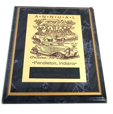 Pendleton Indiana Annual Falls Park Cruise In October 1997 Top 20 Plaque Trophy