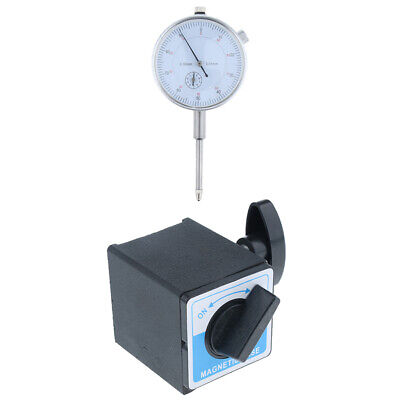 Precision Dial Test Indicator w/Pointer,0-30mm Metric clockwise &Base