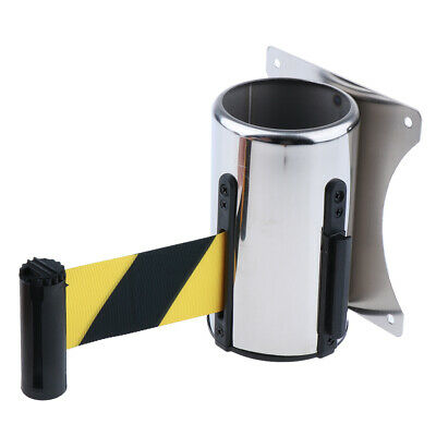 Wall Mount Crowd Control Wall Barrier Retractable Belt Safe Braking System