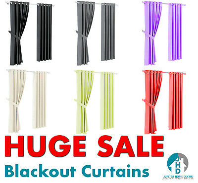 Thick Blackout Eyelet Curtains - Huge Sale **Quality & Cheap!!!** Free Post