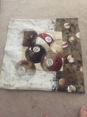 """Fine Art Tapestry Hand Crafted Jacquard """"Bowling Balls """" 34""""X31"""" -Very Rare"""